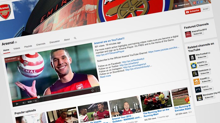 Arsenal Launch Official Youtube Channel News Arsenalcom