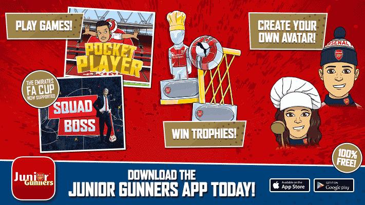 New Features In The JG App! | News | Junior Gunners | Arsenal com