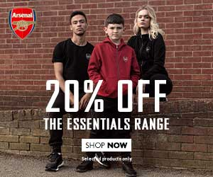 Arsenal shopping banner
