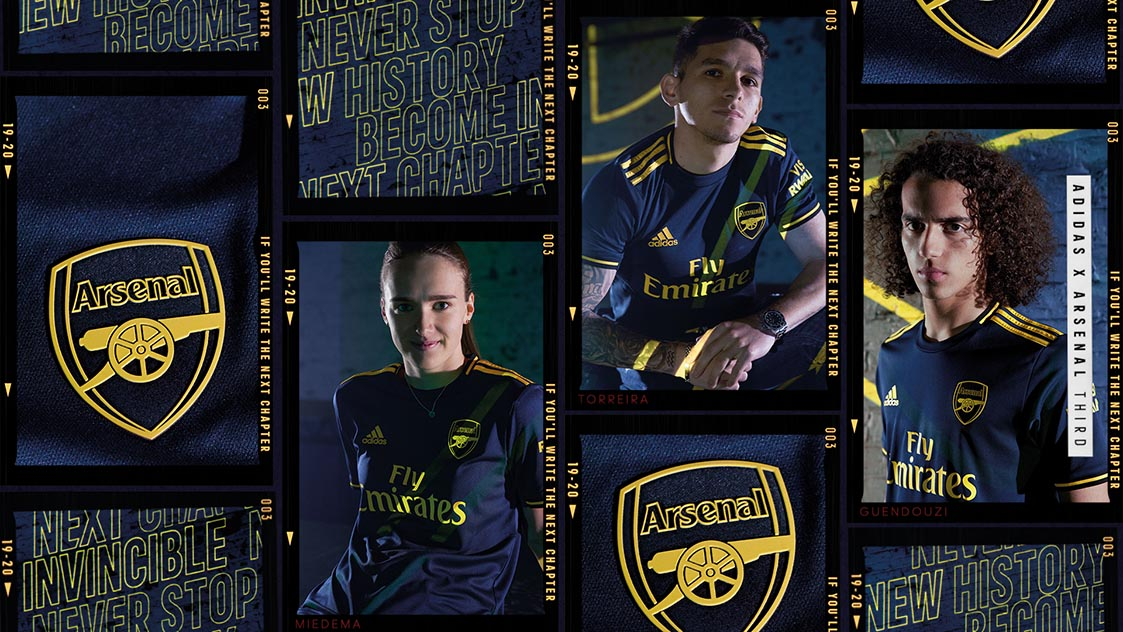 more photos aac72 b48dc Third kit launches for 2019/20 season | adidas x Arsenal ...