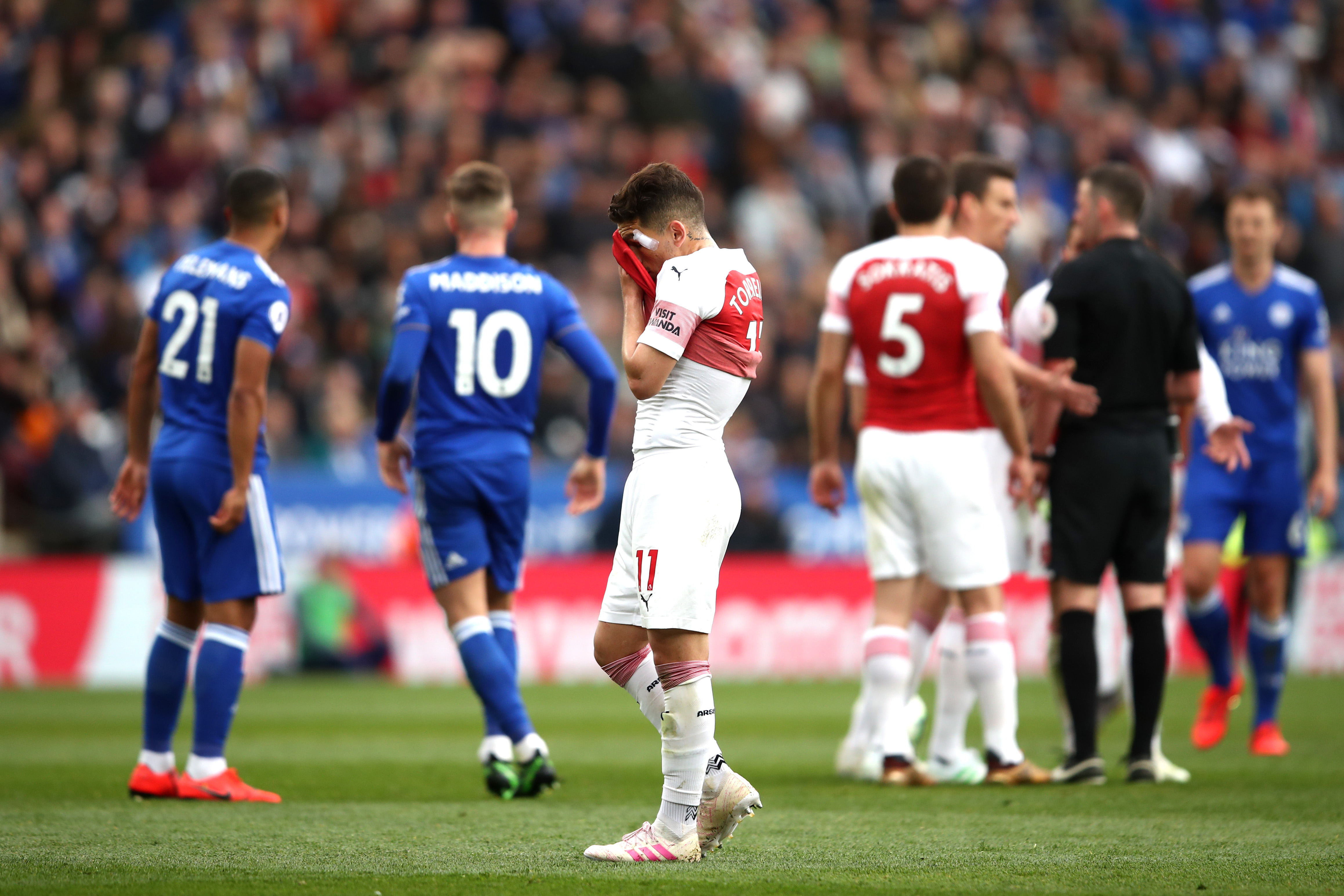 Image result for leicester arsenal