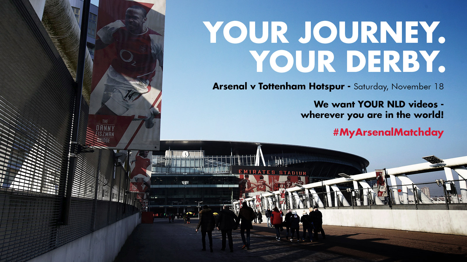 #MyArsenalMatchday for the north London derby