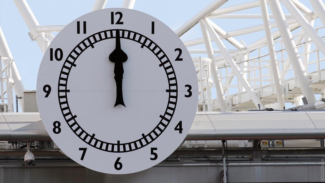the arsenal clock history news arsenalcom