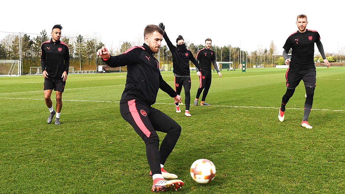 Pictures: First team train ahead of AC Milan game
