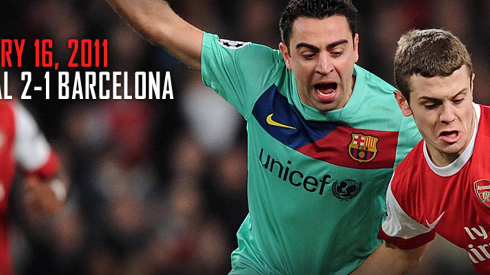 Arsenal 2 1 Barcelona Feature News Arsenal Com