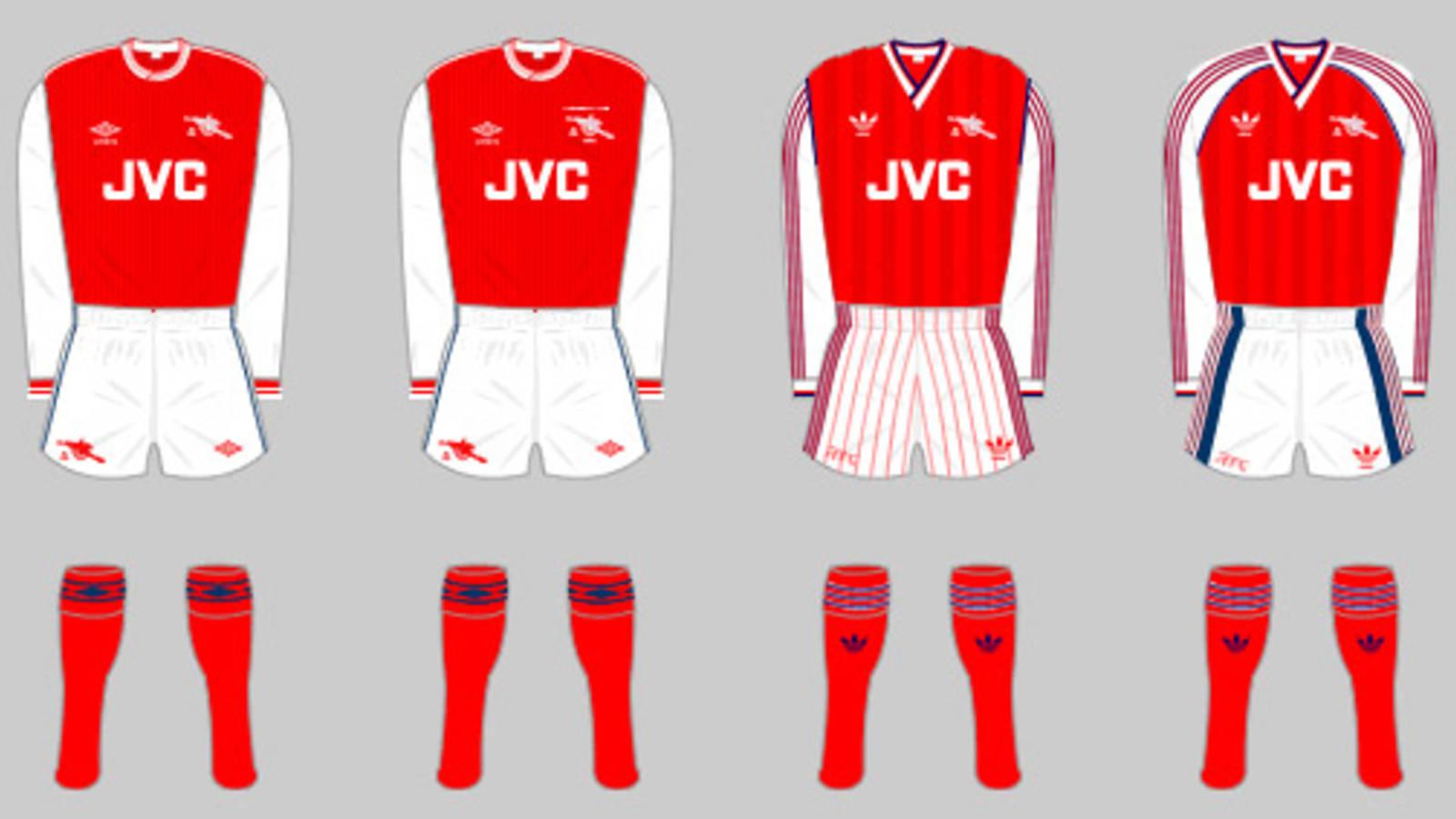 The Arsenal Home Kit History News Arsenal Com