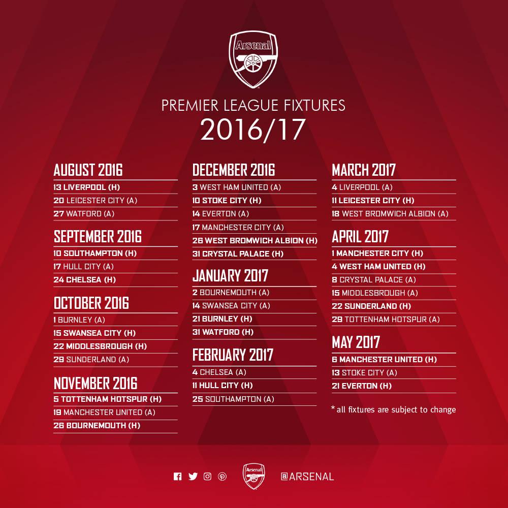 arsenal fixtures - photo #2
