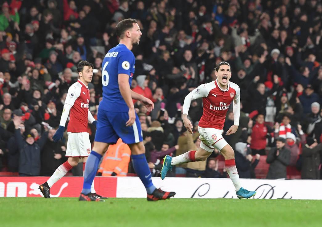 Bellerín celebra el tanto ante el Chelsea | Fotografía: Arsenal