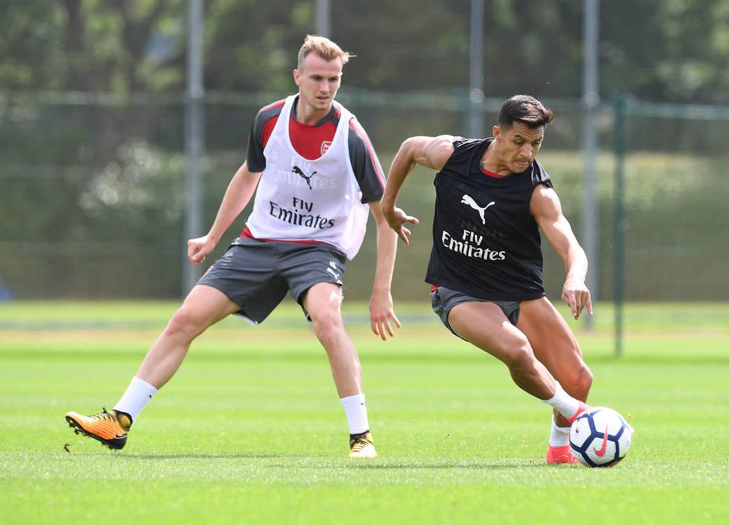 Alexis Sánchez durante un entrenamiento | Fotografía: Arsenal