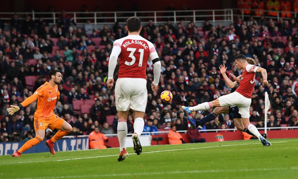 Xhaka opens the scoring against Fulham