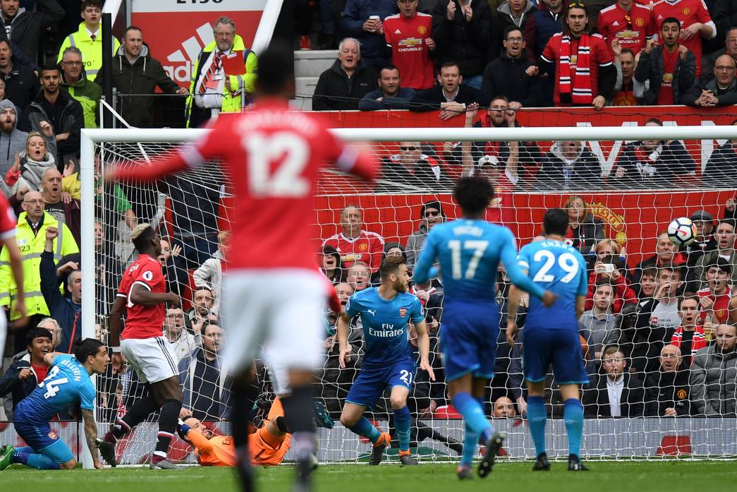 Paul Pogba scores at Old Trafford
