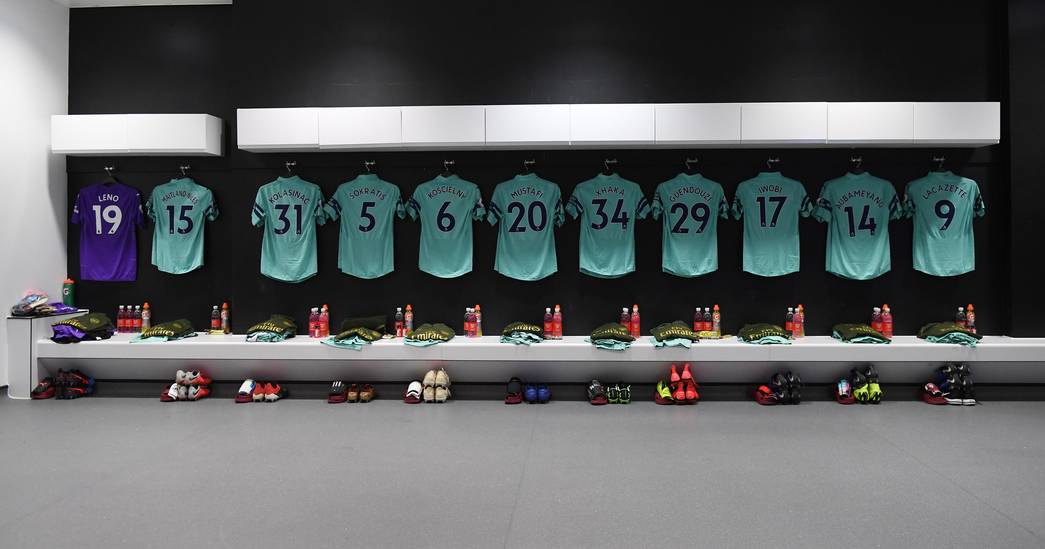 Dressing room at West Ham