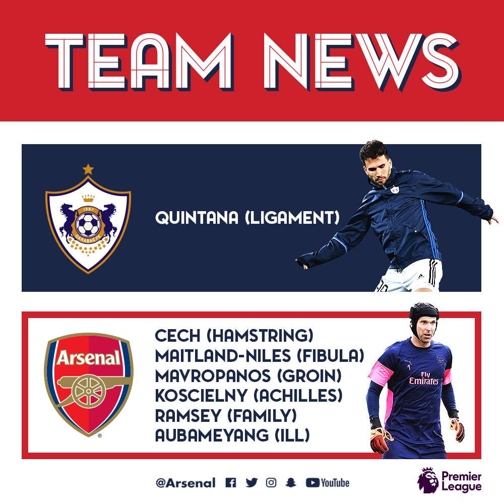 Emery We Want To Play With Mkhitaryan In Baku: Arsenal Train In Baku Ahead Of Qarabag Game