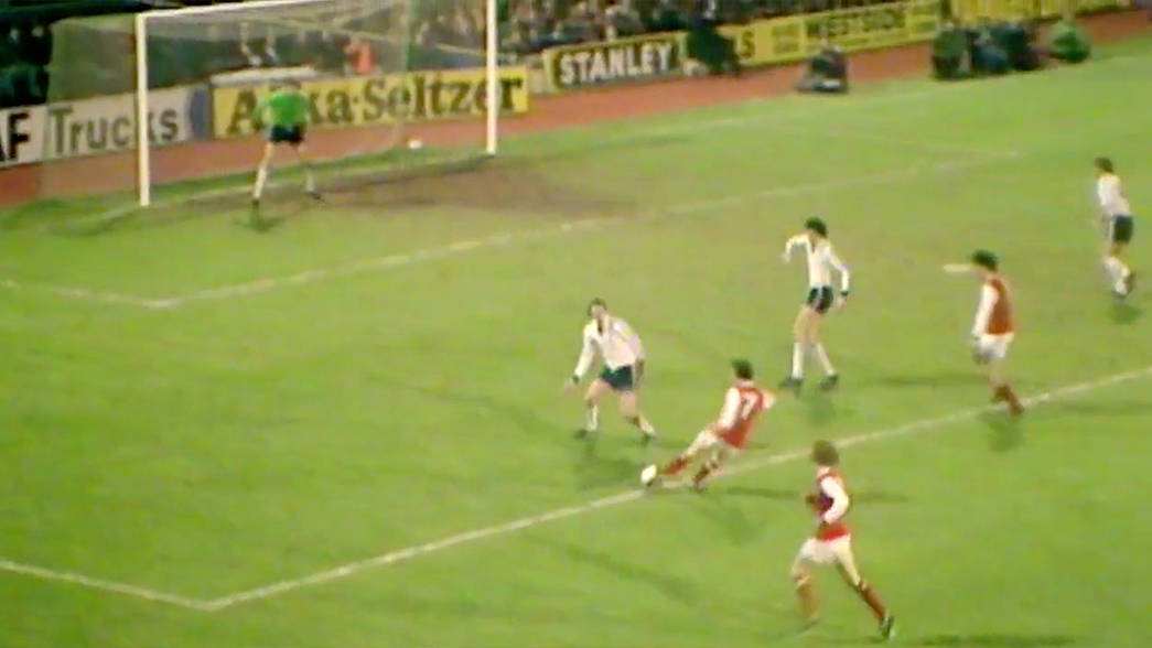 Image result for liam brady goal against spurs