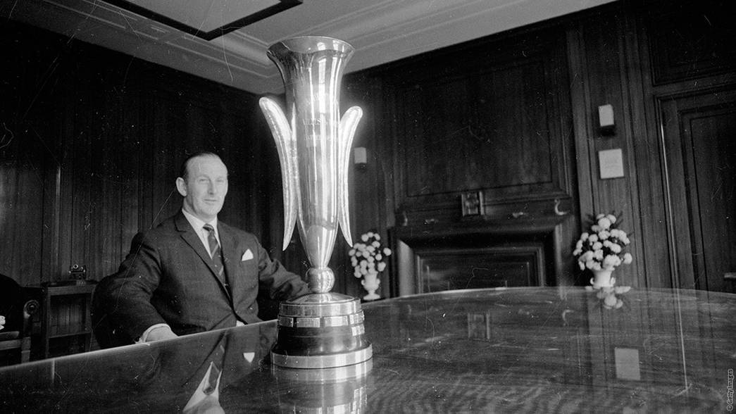 Bertie Mee With The Fairs Cup In 1970