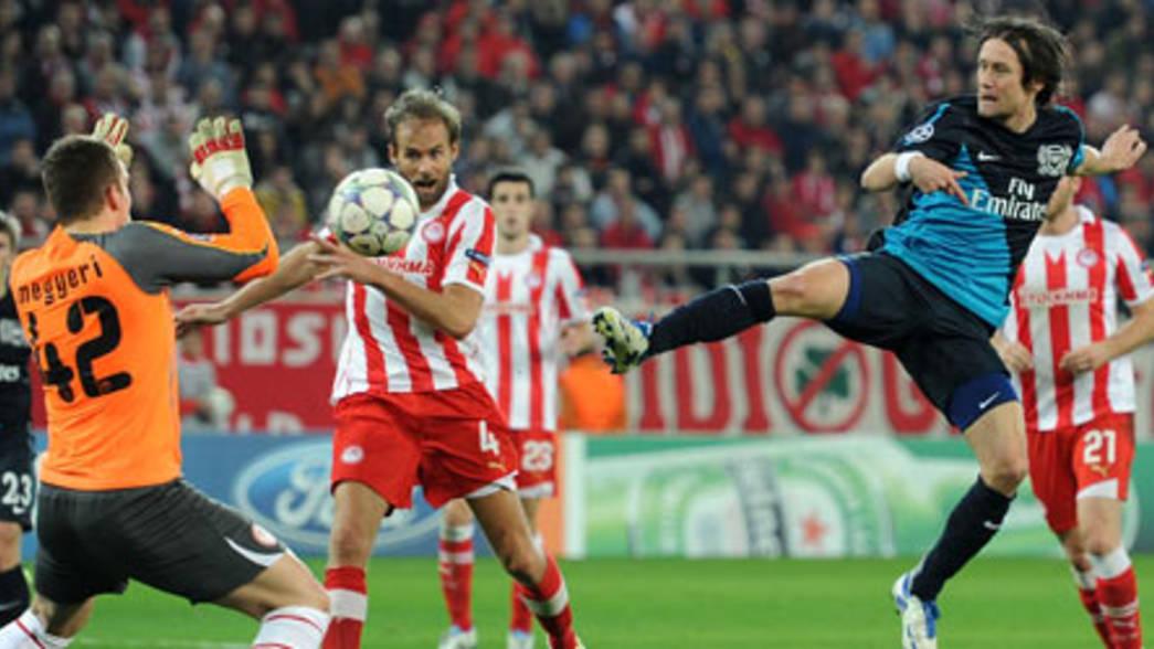 Olympiakos CFP 3 - 1 Arsenal - Match Report   Arsenal.com