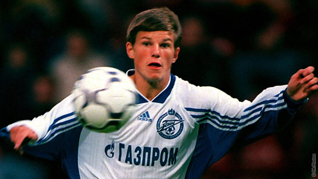 Andrey Arshavin in action for Zenit St Petersburg in 2000