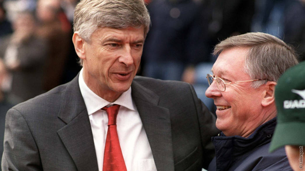 Arsène Wenger with Sir Alex Ferguson