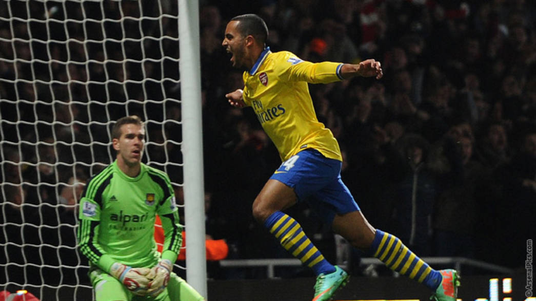 13/14: West Ham 1-3 Arenal - Theo Walcott