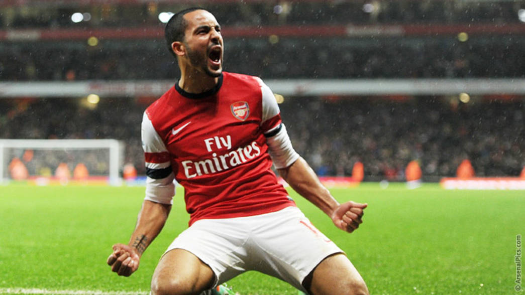 Theo scores against Cardiff