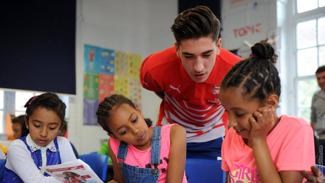 Hector Bellerin at the Arsenal Double Club