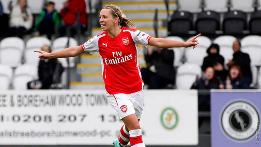 Jordan Nobbs scores against Everton