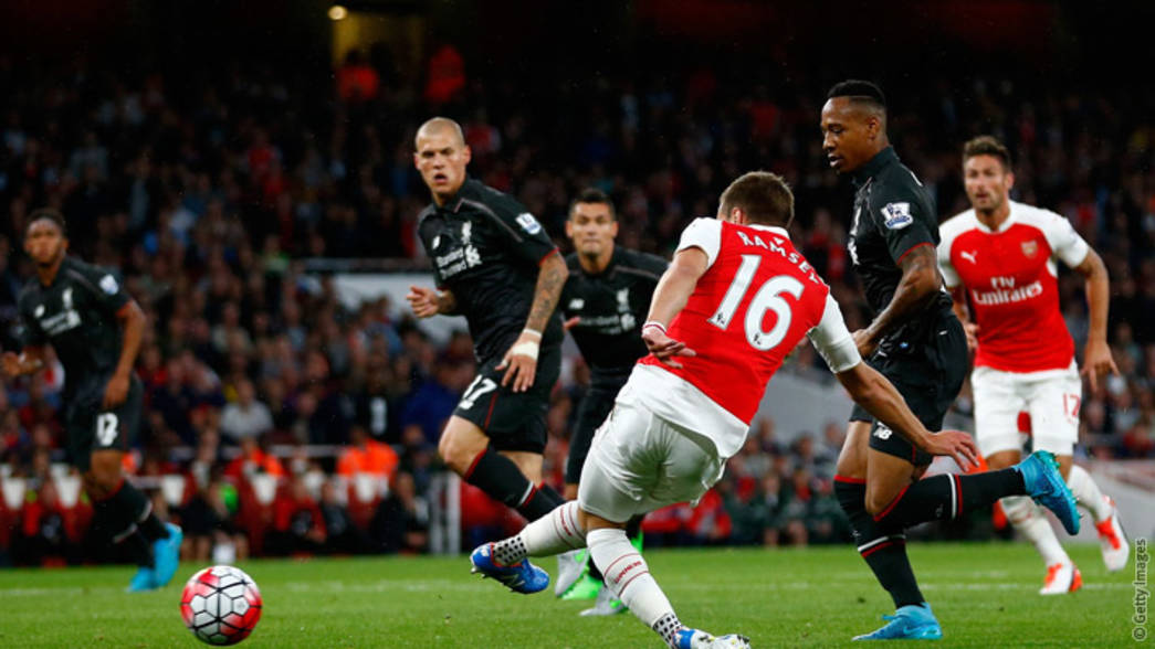 Aaron Ramsey's goal was controversially ruled out
