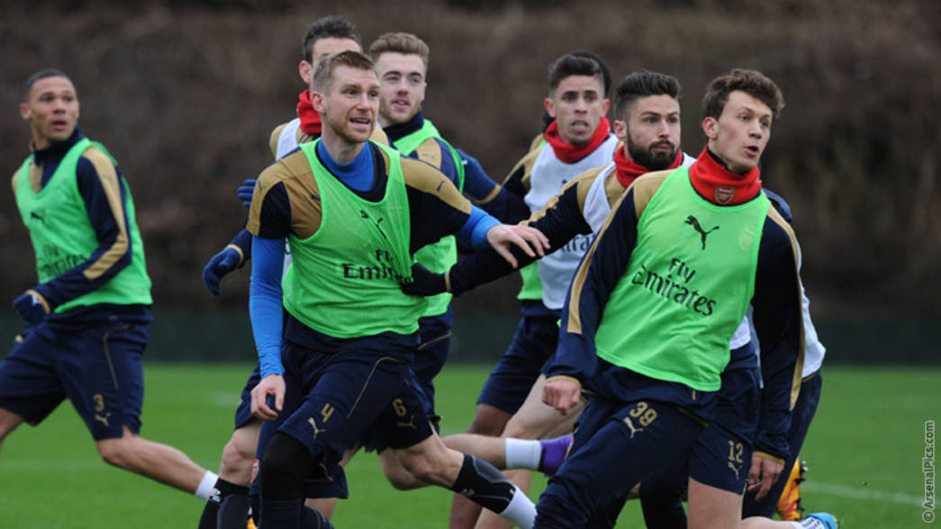 Arsenal train pre-Bournemouth