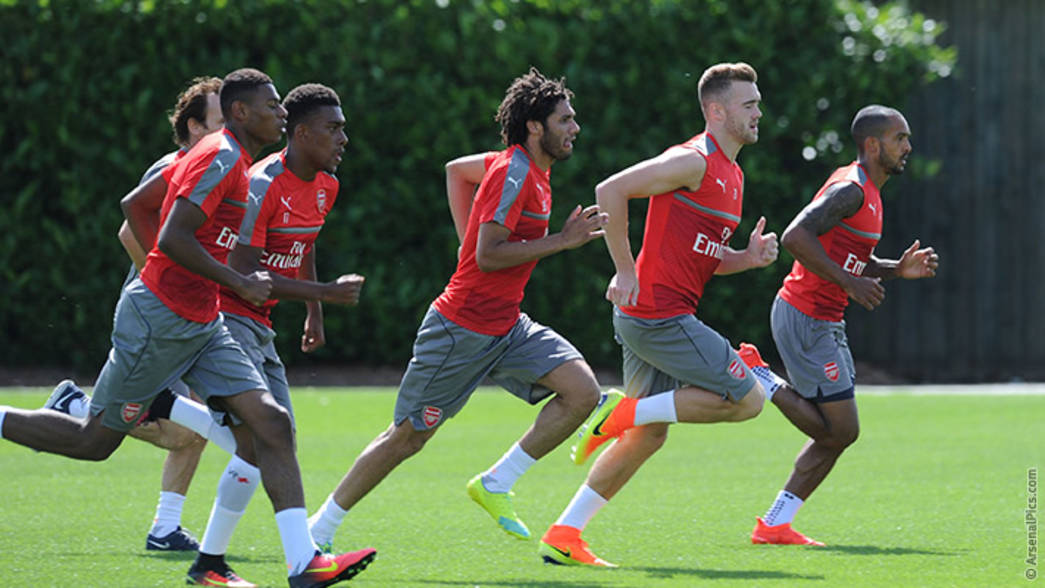 Arsenal pre-season training