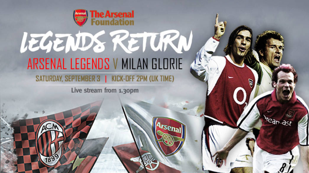 Arsenal Legends live stream - USE