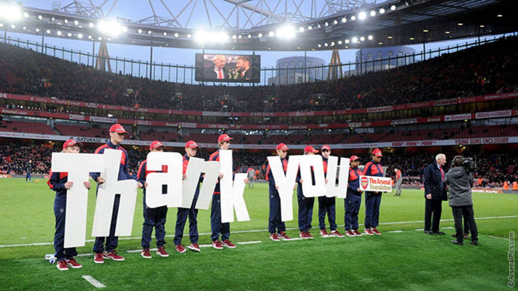 Arsenal Foundation thank you