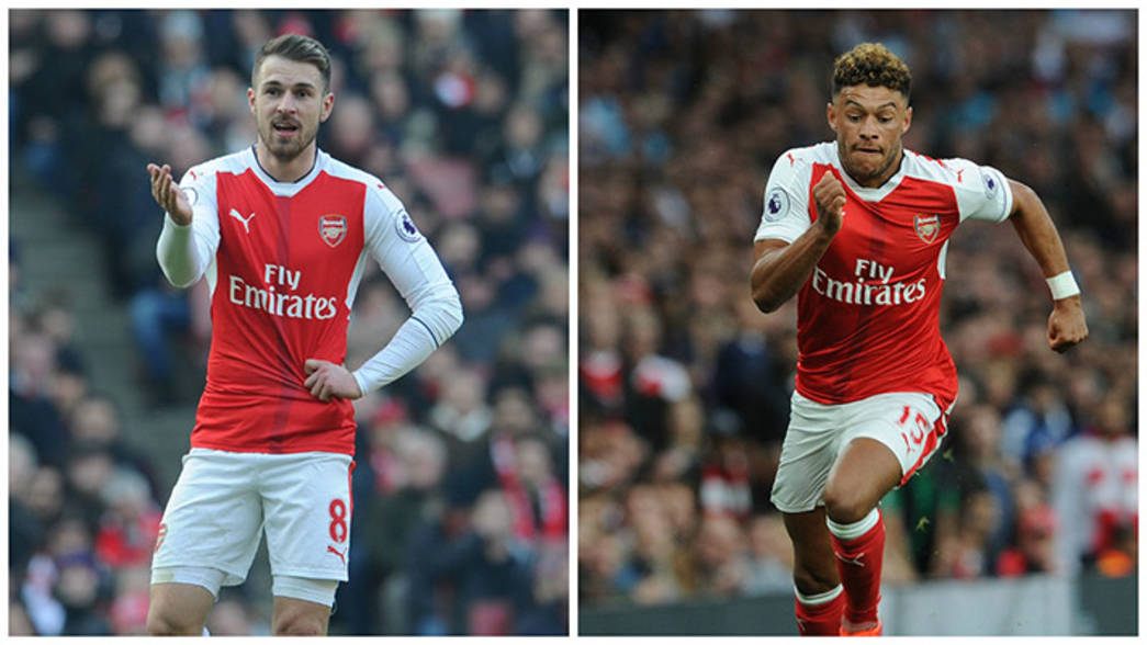 Aaron Ramsey and Alex Oxlade-Chamberlain