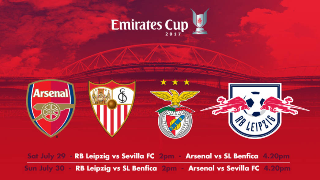 Emirates Cup 2017 Line Up Confirmed