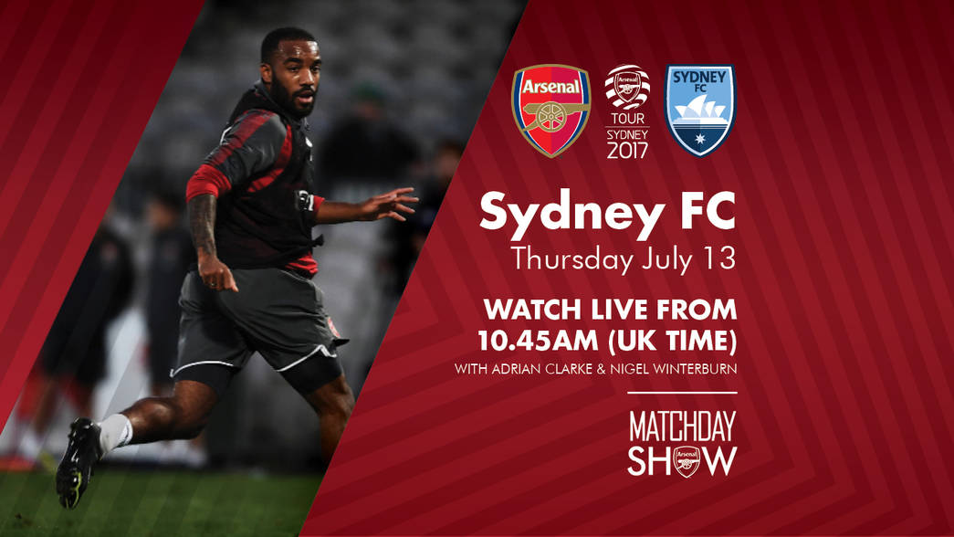 Sydney FC matchday show graphic