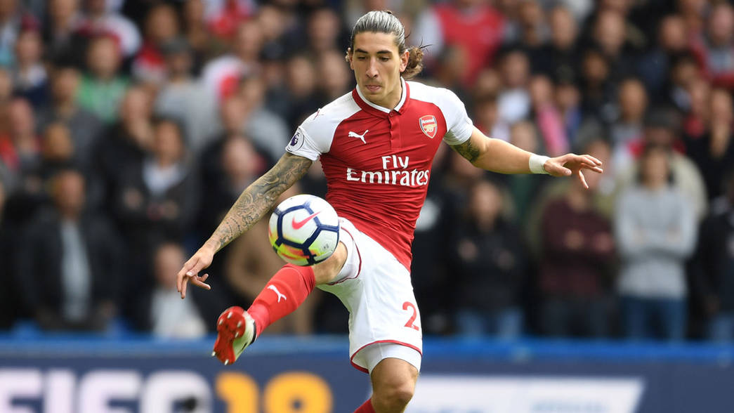 Hector Bellerin in action against Chelsea