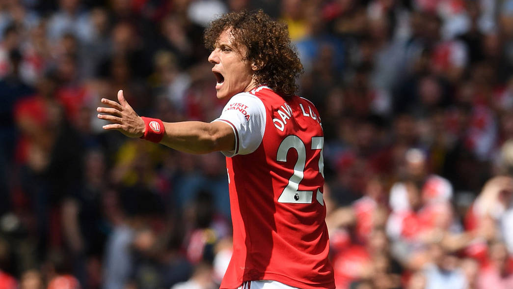 David Luiz during his Arsenal debut