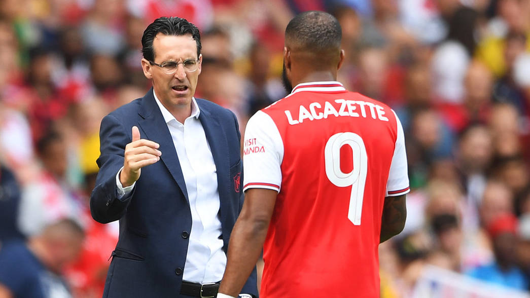 Unai Emery and Alex Lacazette