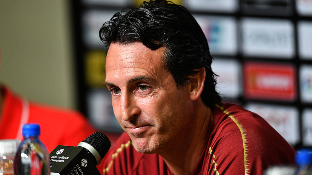 Emery speaks to the media ahead of facing PSG