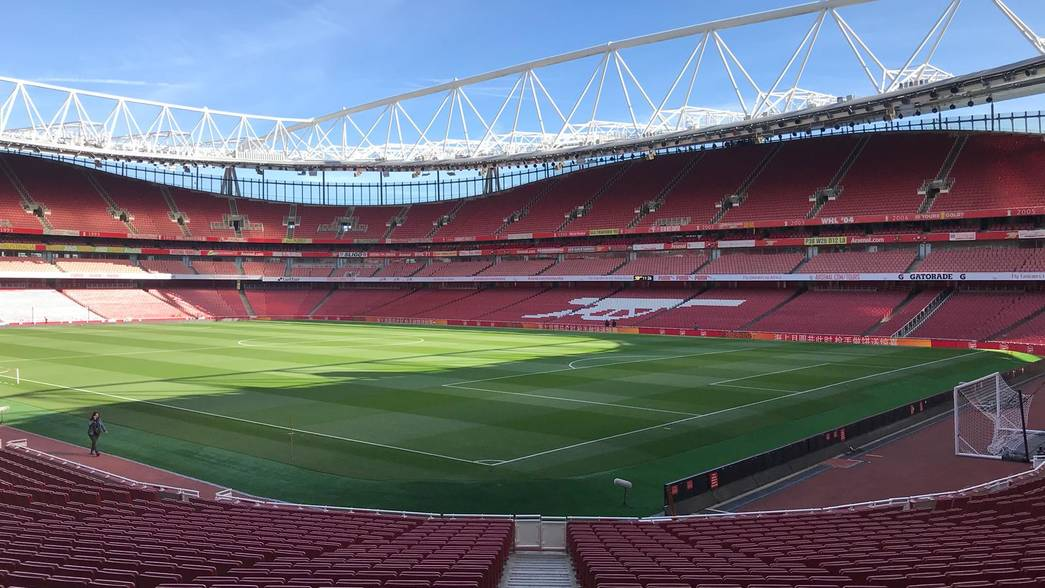 Emirates Stadium in the sun before the Watford game