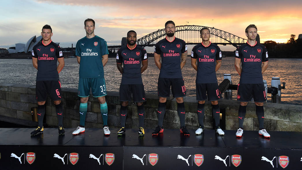 Arsenal launch third kit in Sydney