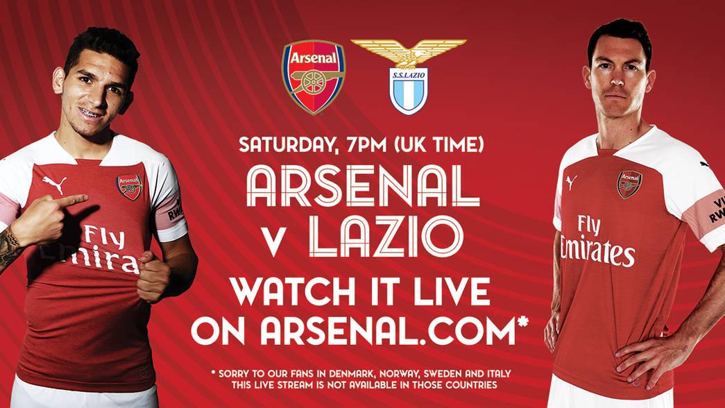Arsenal v Lazio LIVE promo