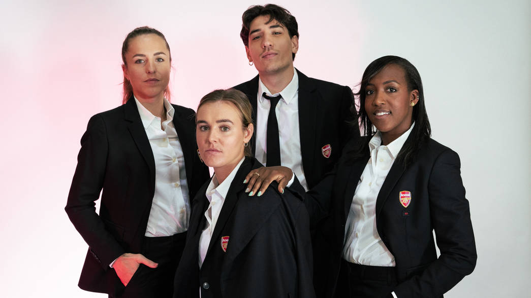 Arsenal Women model the new 424 suits
