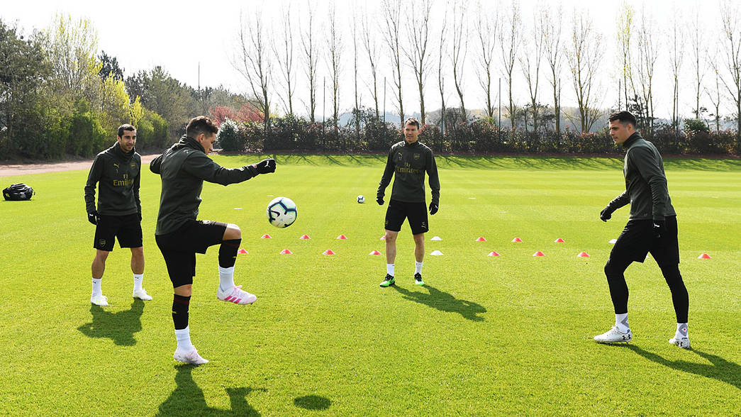 In pictures: final training ahead of Watford