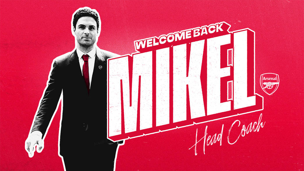 Mikel Arteta announcement graphic