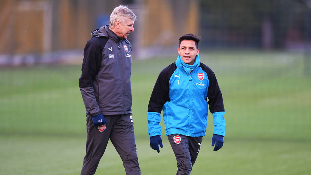 Arsène Wenger and Alexis