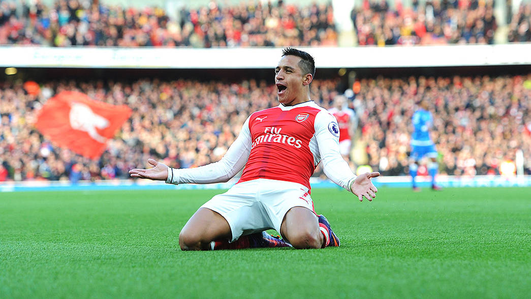 Alexis celebrates against Bournemouth