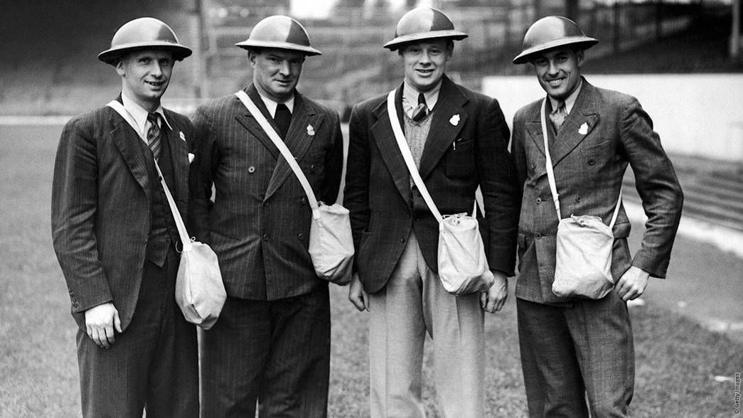 Cliff Bastin, Tom Whittaker, George Male and George Marks