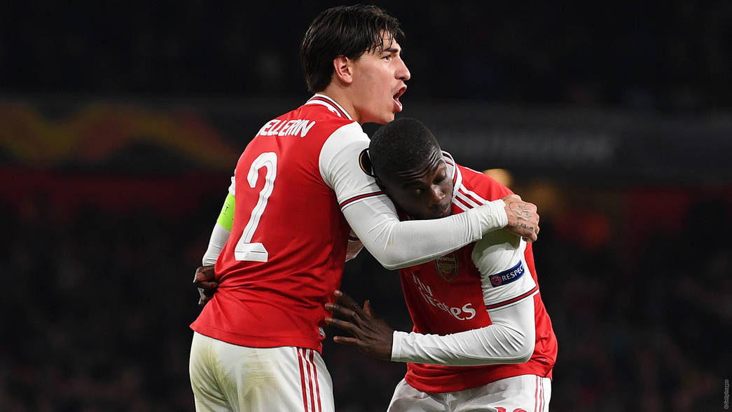 Hector Bellerin and Nicolas Pepe