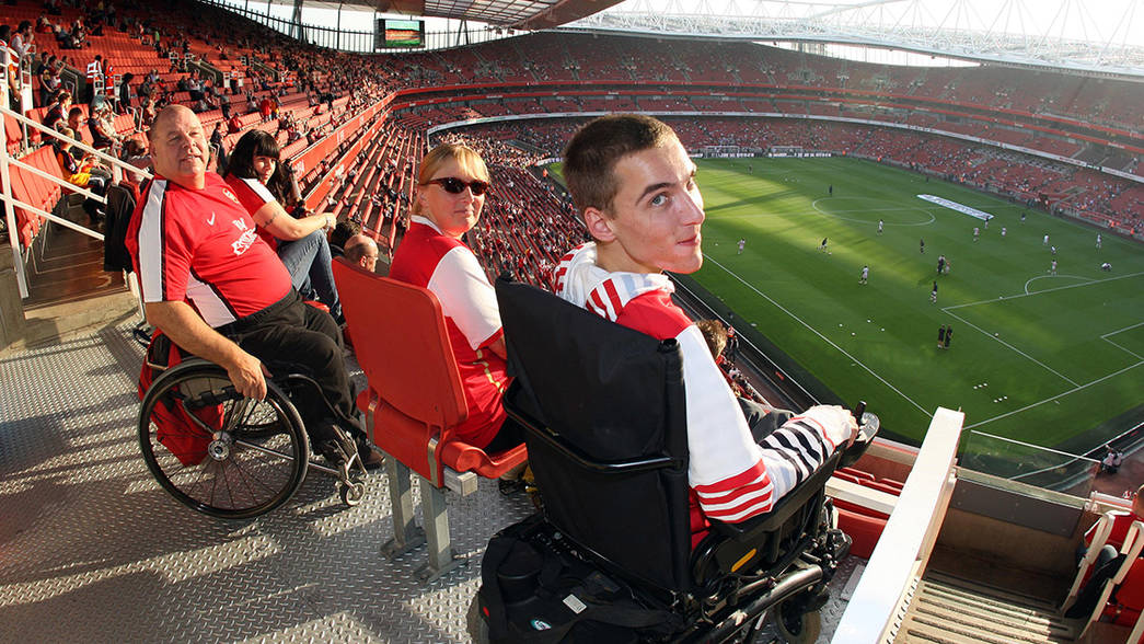 Disabled supporters