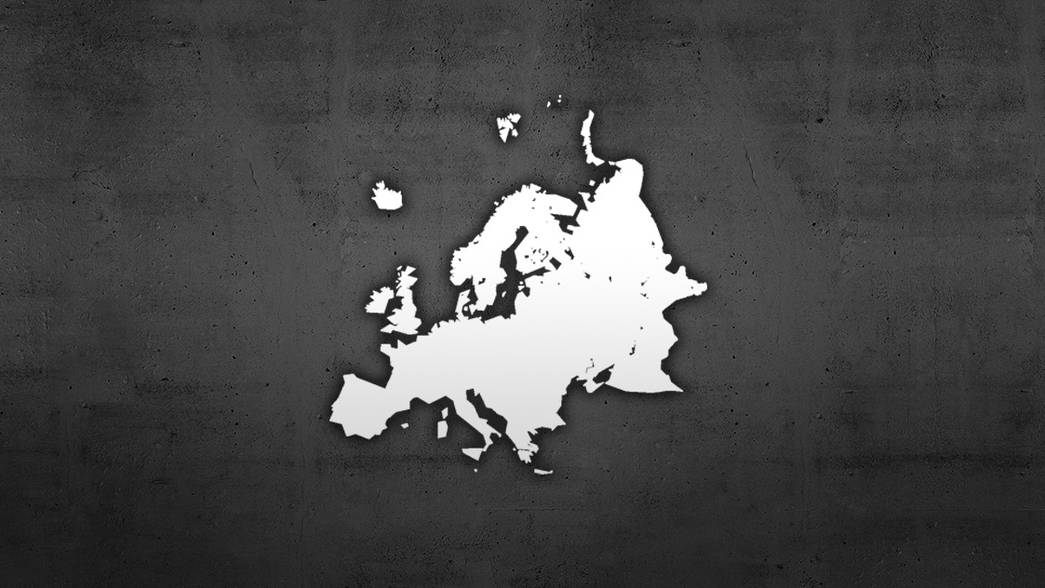 Map outline of Europe